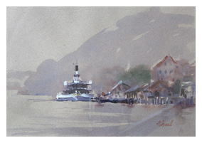 The Old Ferry - Watercolour